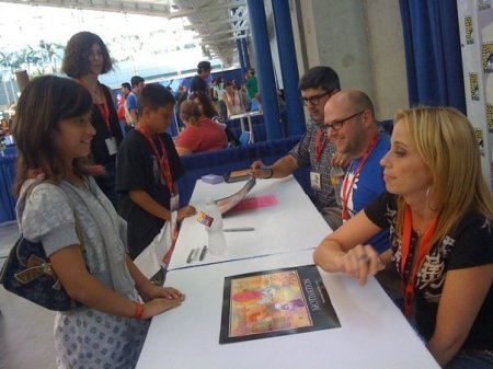 San Diego Comic-Con 2009 'Chowder' autograph session: (L to R) Dana Snyder, C.H. Greenblatt, Tara Strong. (Photo credit: Tara Strong)