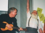 Will Ryan and Dal McKennon performing at an event in July 2000. (Photo donated by Linda.)