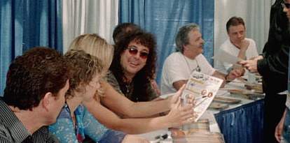 L to R: Roger Rose, Debbie Derryberry, Donna D'Errico, Jess Harnell, Jim Cummings, Mark Hamill