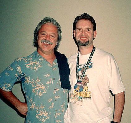 Jim Cummings with Craig Crumpton after the 'Comic Book: The Movie' panel at SDCC 2003.